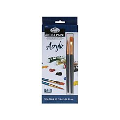 Pack of Artist Acrylic Paints 12x12ml