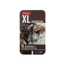Derwent XL Tin of 6 Charcoal