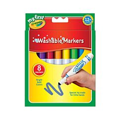 Crayola Super Washable First Marker Pens Pack of 8