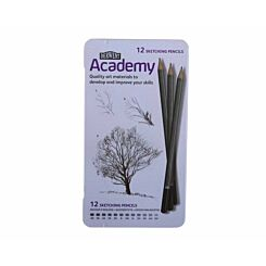 Derwent Academy Sketching Pencils Tin Pack of 12
