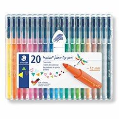Staedtler Triplus Fibre Tip Pens Pack of 20