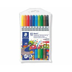 Staedtler Noris Club Double Ended Fibre Tips Pack of 10