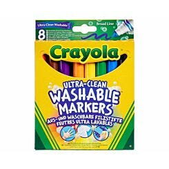 Crayola Super Washable Marker Pens Pack of 8