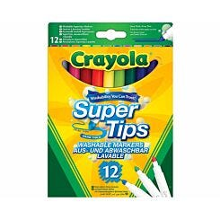 Crayola Supertips Super Washable Pens Pack of 12