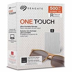 Seagate One Touch Portable SSD 500GB White