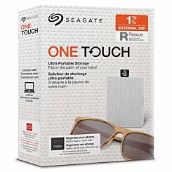 Seagate One Touch Portable SSD 1TB White