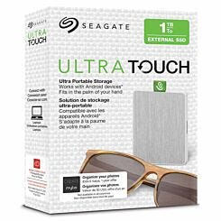 Seagate Ultra Touch External SSD 1TB White