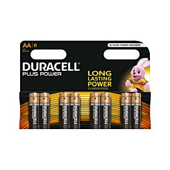 Duracell Duralock Plus Power AA Pack of 8