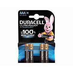 Duracell Duralock Ultra Power AAA Pack of 4
