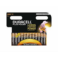 Duracell Plus Power AAA Batteries Pack of 12