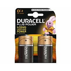 Duracell Plus Power D Batteries Pack of 2