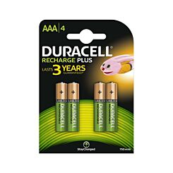 Duracell Rechargeable AAA Pack of 4
