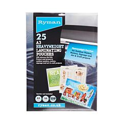 Ryman Laminating Pouches A3 250 Micron Pack of 25