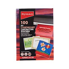 Ryman Laminating Pouches A4 150 Micron Pack of 100