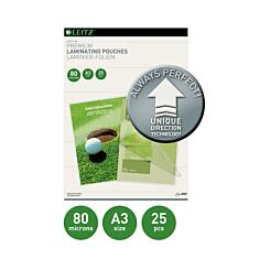 Leitz iLam Premium Laminating Pouches with UDT A3 80 Microns Pack of 25