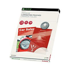 Leitz iLam Premium Laminating Pouches with UDT A3 175 Microns Pack of 100