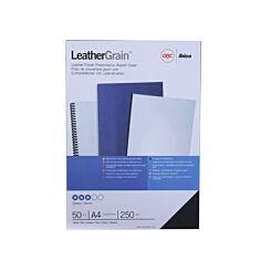 GBC Binding Covers A4 Leatherboard Finish Pack of 50