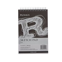 Ryman Sketch Pad A5 200gsm 60 Pages 30 Sheets