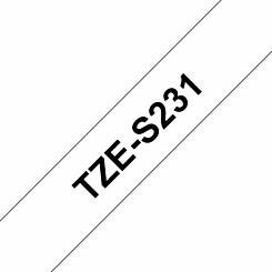 Brother TZES231 Tape Black/White