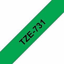 Brother TZE731 Tape  Black/Green