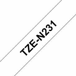 Brother TZEN231 Tape Black on White
