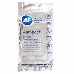 Anti-bac Plus Multipurpose Screen Wipes Pack of 25