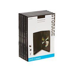 Vivanco DVD Case Standard Pack of 5 Black