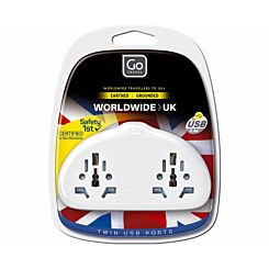 Go Travel Worldwide to UK Duo Adaptor plus USB