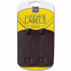 Go Travel Luggage Tags Black