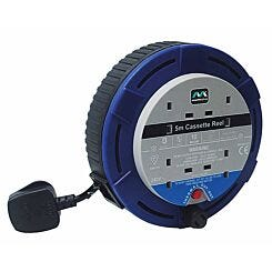 Masterplug 4 Gang 10A 5m Cassette Reel