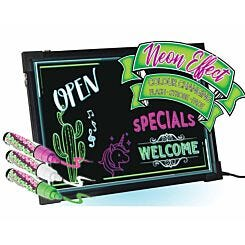 Mayhem Neon Colour Changing Message Board with Pens