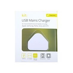 USB Eco Mains Charger 2.1A + Auto Detect IC