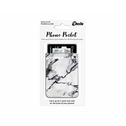 iDecoz Phone Pocket White Marble