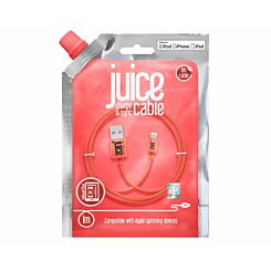 Juice Lightning to USB Cable 1m Coral