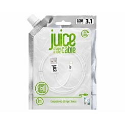 Juice Type C to USB Cable 1m White