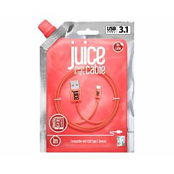 Juice Type C to USB Cable 1m Coral