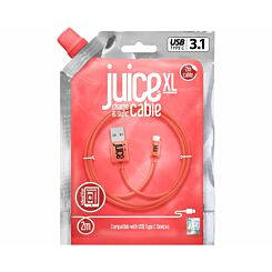 Juice Type C to USB Cable 2m Coral