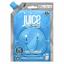 Juice Lightning to Type C Round Cable 1m Blue