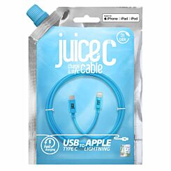 Juice Lightning to Type C Round Cable 2m Blue