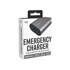Kit Premium Emergency Charger 6000mAh Silver