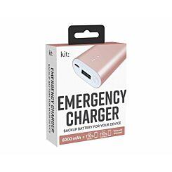 Kit Premium Emergency Charger 6000mAh Gold