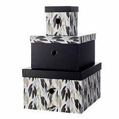 Ryman Storage Boxes Floral Design Set of 3