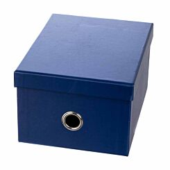 Ryman Storage Box Medium Navy Blue