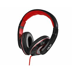 Akai A58019 Pro Series Over-Ear Headphones with Built-In Microphone - Black