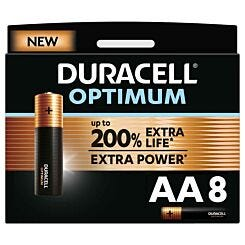 Duracell Optimum AA Batteries Pack of 8