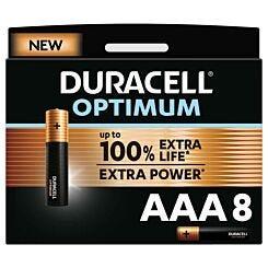Duracell Optimum AAA Batteries Pack of 8