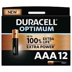 Duracell Optimum AAA Batteries Pack of 12