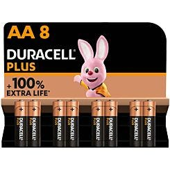 Duracell Plus 100 AA Pack of 8
