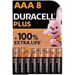 Duracell Plus 100 AAA Pack of 8