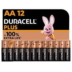 Duracell Plus 100 AA Pack of 12